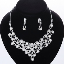 High Quality Fashion cheap crystal necklace for wedding Jewelry sets DS016