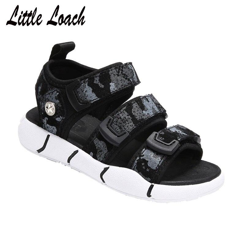 Jungen Camouflage Sommer Sandalen Offenen Zehen Atmungsaktiv Stoff Kinder Strand Schuhe Klett Anti-skid Sandalen Größe 26-37 Schuhe BüGeln Nicht