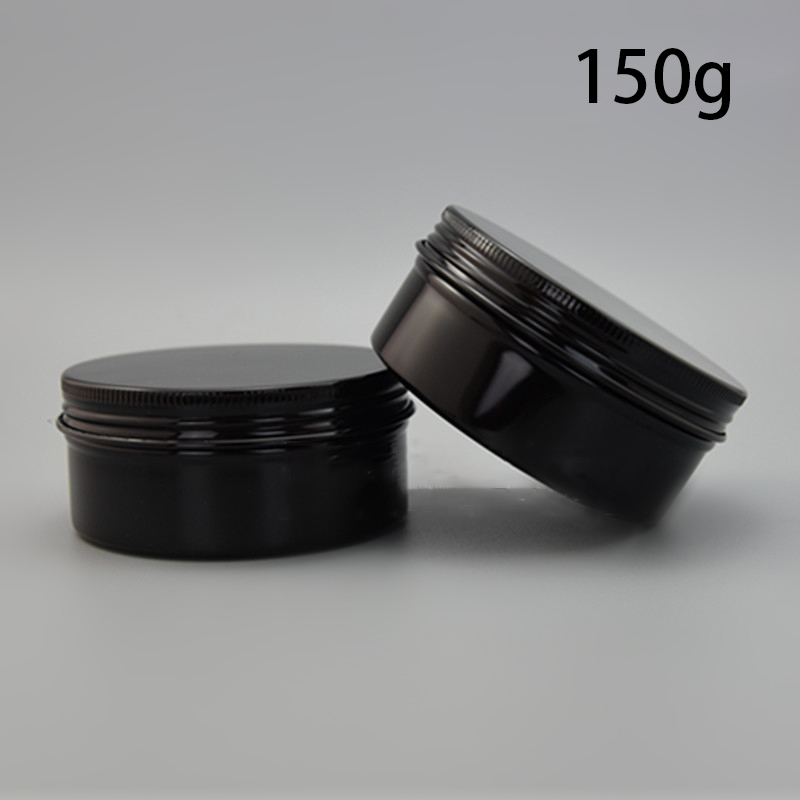 150g Aluminum Jar Refillable Cosmetic Cream Bottle Empty Screw Cap Containers Black Pink Gold White Silver Lotion Tins