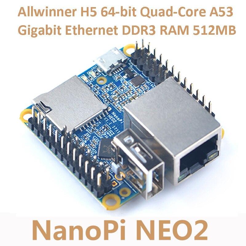 Nanopi NEO2 Allwinner H5 развитию 64-бит Quad-Core A53 Gigabit Ethernet