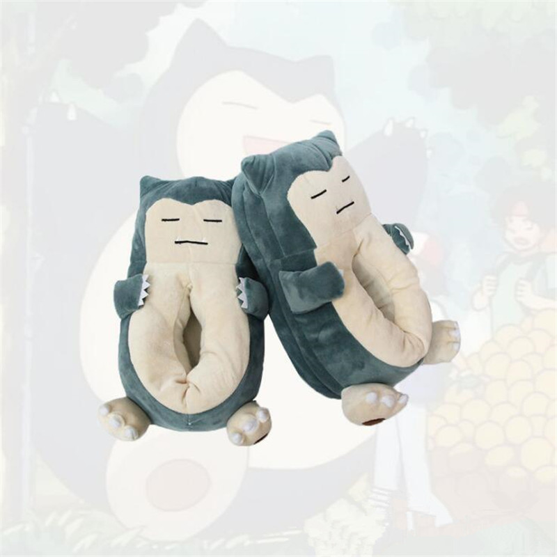 Anime Cartoon Slipper Pocket Monster Pokemon Snorlax Shoes Cosplay Costumes Accessories Home Shoes Cotton Slippers Fancy Gift