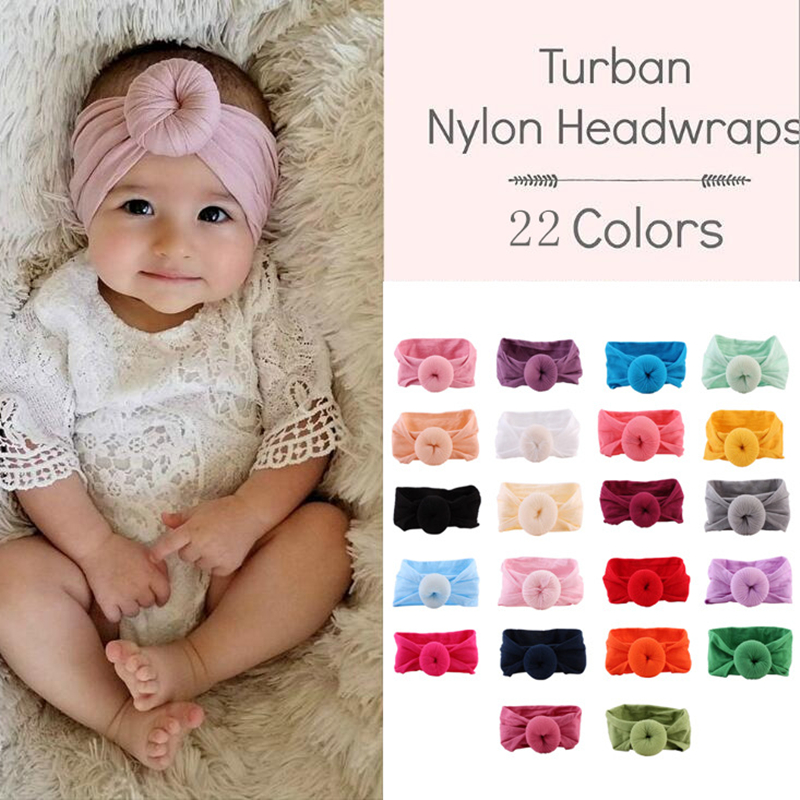 Baby Headband Newborn Girl Headbands Infant Turban Toddler Hair Accessories Nylon Cotton Headwrap Hair Band Cute Kawaii Soft