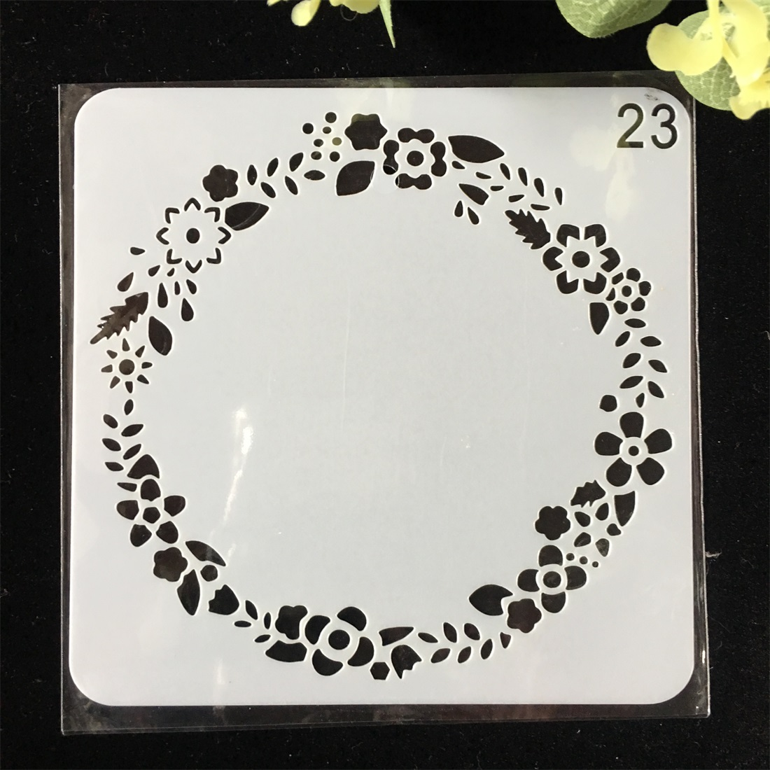 1Pcs 15cm Floral Circle DIY Layering Stencils Wall Painting Scrapbook Coloring Embossing Album Decorative Card Template