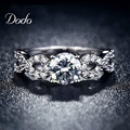 Fashion Wedding Rings for women white gold plated CZ Diamond jewelry ring vintage bague female Infinity bijoux love gift DR099