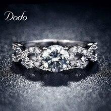 Anneaux De Mariage De mode pour les femmes or blanc plaqué CZ Diamant bijoux bague vintage bague femelle Infinity bijoux amour cadeau DR099