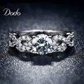 Moda Anillos de Boda para las mujeres oro blanco plateado CZ anillo De Diamantes de joyería de la vendimia bijoux bague mujeres Infinito amor regalo DR099