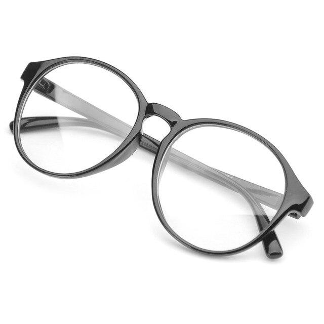 e35d8530a34 PenSee Oversized Circle Eyeglasses Frames Inspired Horned Rim Clear Lens  Glasses