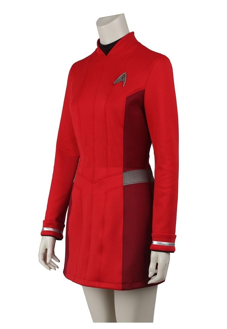 star trek beyond uhura cospaly costume star trek uniform red dress adult women halloween cosplay costume on aliexpresscom alibaba group - Uhura Halloween Costume
