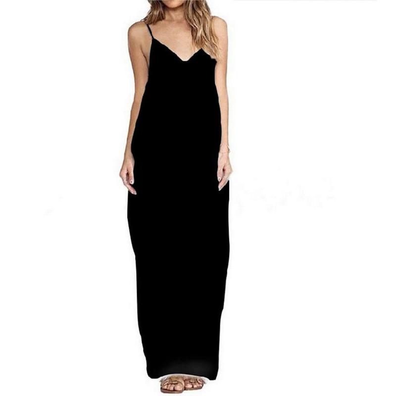 2017 Women Summer Beach Party Long Maxi dress Boho Sexy Hippie Spaghetti Strap Sleeveless dress Free