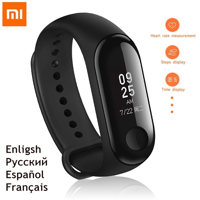 dfce5f627250 US $25.67 24% OFF|Xiaomi Mi Band 2 Miband 3 Mi Band 3 Bracelet IP67  Waterproof Watch Wristband Smart Heart Rate Monitor Fitness Tracker OLED  Touch-in ...