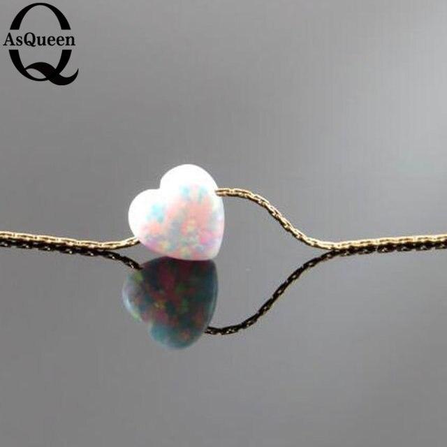 2017 новый Красивый В Форме Сердца Розовый/белый и Огненный Опал Кулон Ожерелье для Леди
