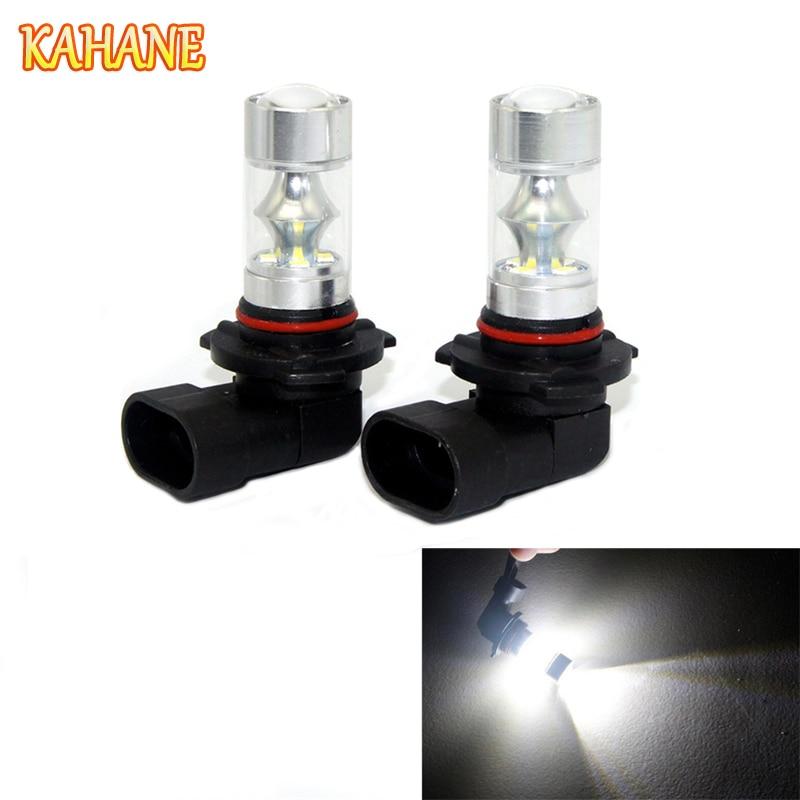 KAHANE 2x 60W 9005 LED Avtomobil fənər lampası Gün işığı Audi BMW Mercedes VW Hyundai Kia Nissan Toyota üçün işıq duman lampası