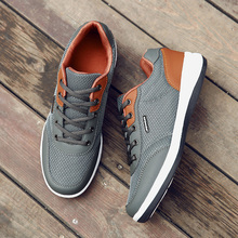 2019 Autumn New Men Shoes Lace-up Fashion Microfiber Leather Casual Brand Sneakers Winter Flats