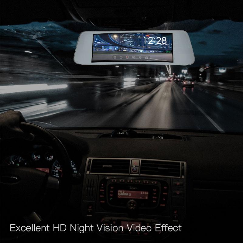 JADO D560 Miroir Dvr dash Caméra avtorégistrateur 6.86 Écran Full HD 1080 P Dvr de voiture enregistreur de bord dash cam - 5