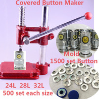 Fabric Covered Button Machine/Maker +24L 28L 32L Fabric Self Cover Button Dies Mold Tools +Shirt Pant Sewing Covered Button 1500
