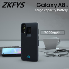 ZKFYS 7000mAh Portable Fast Charger Battery Case For Samsung Galaxy A8s Ultra Thin Back Clip