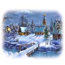 3d diamant stickerei landschaft winter landschaft kreuzstich nähen stricknadeln bilder von strass dekoration