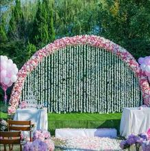 Marriage props Cherry Flower Gate Frame Outdoor Lawn Wedding Background Wall Large Removable Iron Ring Arch