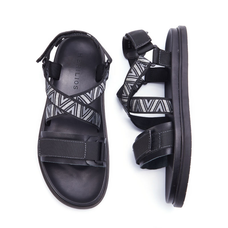 Ar Livre Luxo Os Sapatos Verão Moda Novo Do Sandálias Ao A Sapato Casual Romanos Mycolen Praia De Listagem Masculino Homens Preto wfqZPWv