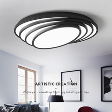 black/ white led modern ceiling lights for living room Surface mounted Metal fixtures light ceiling lamp luminaire plafonnier modern ceiling lights star ceiling lamp for living room kitchen restaurant luminaria surface mounted light fixtures led lamp