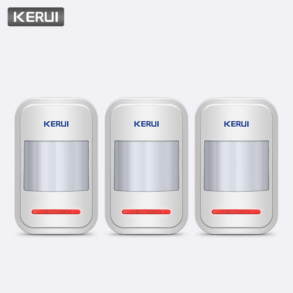 KERUI P819 3pcs 433 MHz Wireless PIR Sensor Smart Infrared Motion Detector for GSM PSTN Home Security Burglar Alarm SystemKERUI P819 3pcs 433 MHz Wireless PIR Sensor Smart Infrared Motion Detector for GSM PSTN Home Security Burglar Alarm System