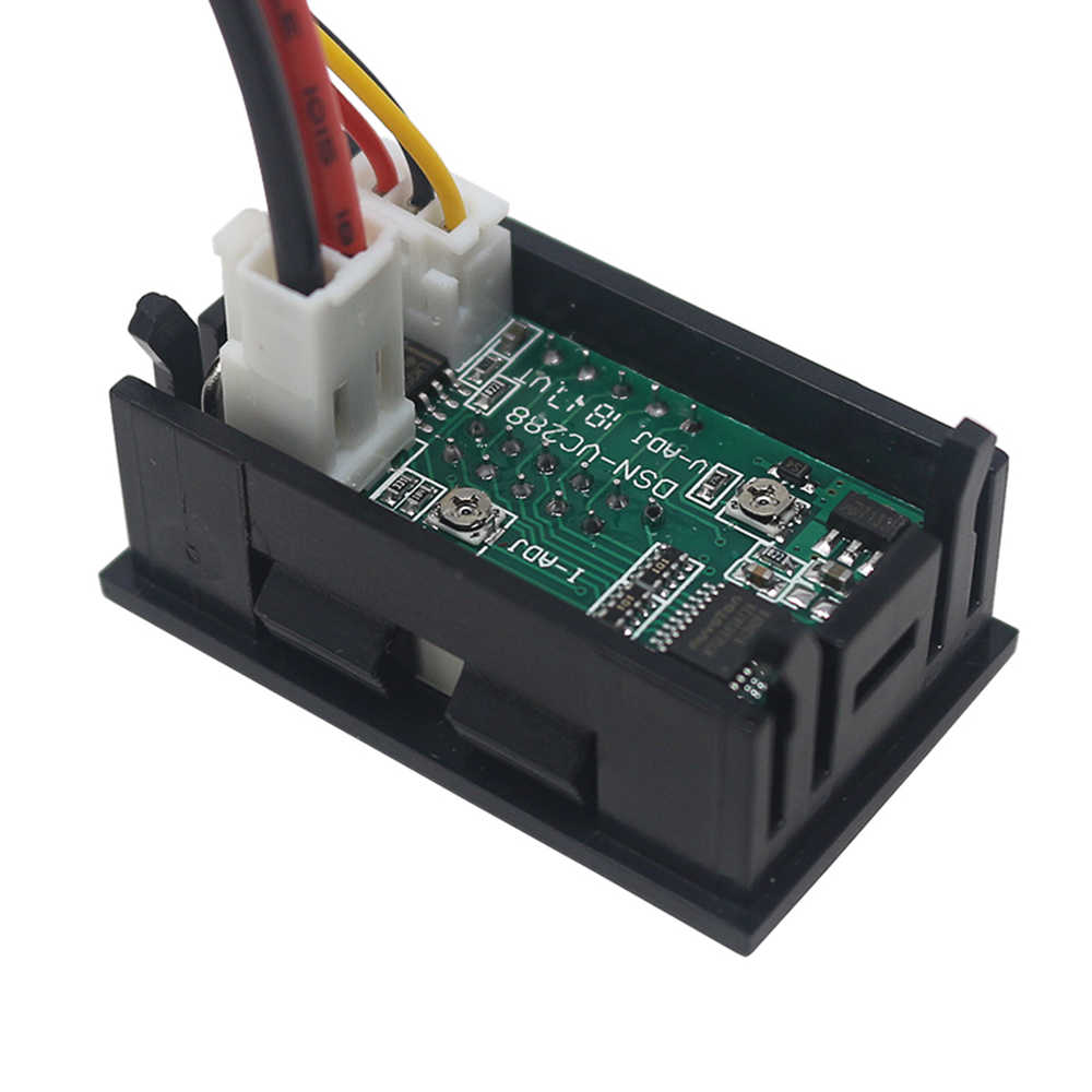 DC 0-100V 10A verdoppeln LED-Digital-Voltmeter-Amperemeter-Spannungs-AMP-EnerBCD