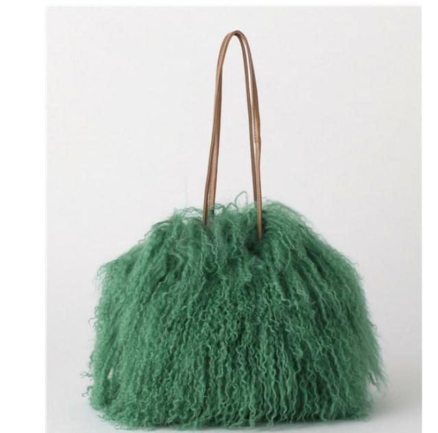 Us 45 99 30 Off Luxury Women Bags Messenger Wool Whole Fur Real Curly Crossbody For Plush Chain Shoulder Hand In