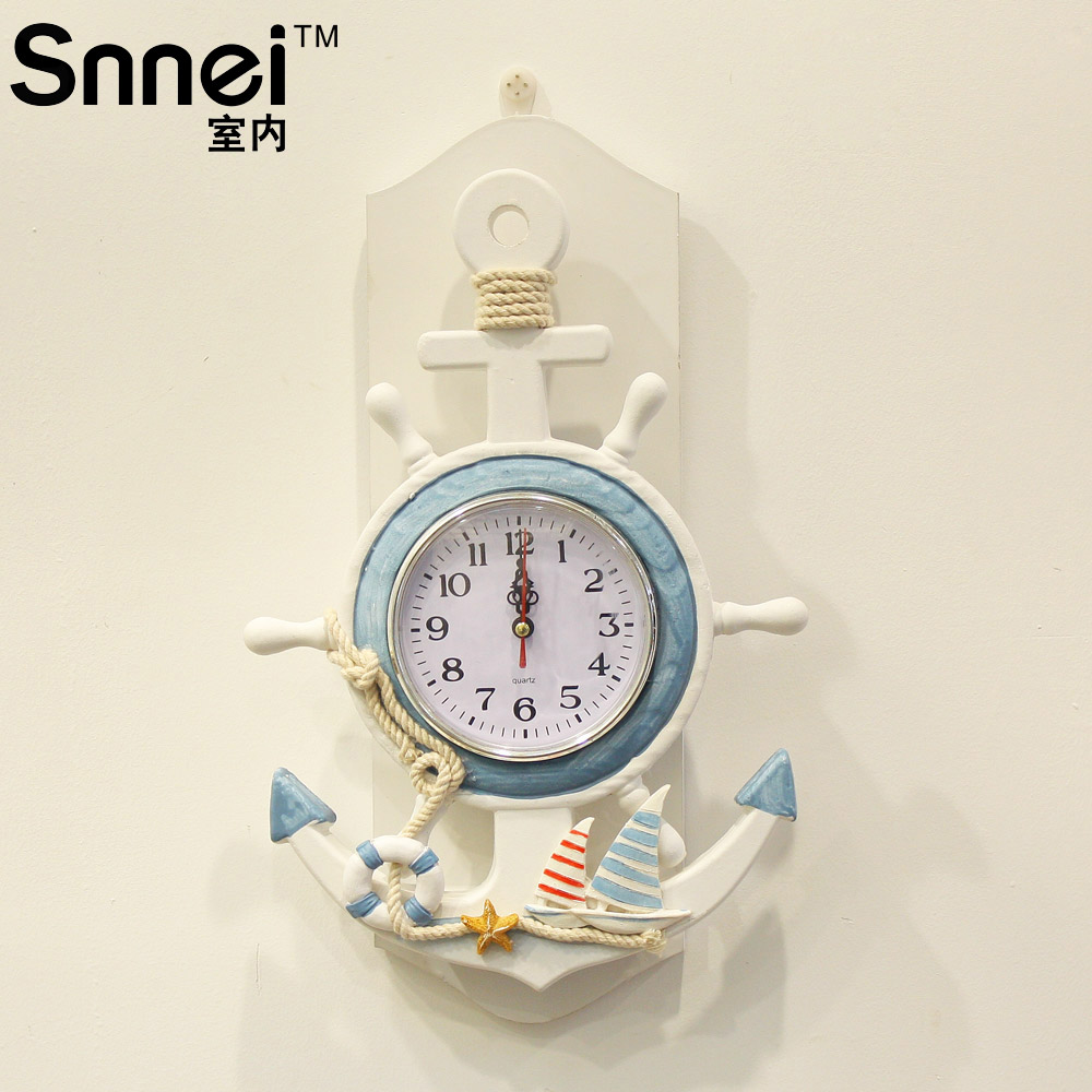 Anchor indoor wall clock wool table home personalized clock in anchor indoor wall clock wool table home personalized clock in alarm clocks from home garden on aliexpress alibaba group amipublicfo Images