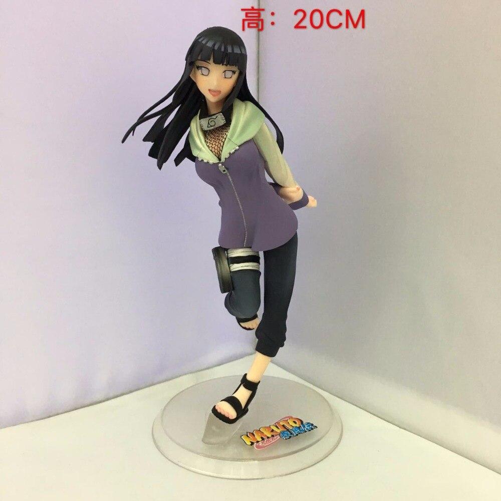 SAINTGI Naruto Shippuuden Hyuuga Hinata PVC Action Figure Anime Toys Collectible Model Toy Doll 20CM naruto figure ninja hyuuga hinata hyuga figure uzumaki naruto gem pvc action figure toy collection model gift