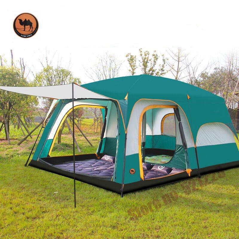 Camel 6 8 10 12 Person Outdoor Huge Tent 2 Bedroom Family