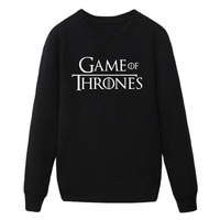 Game Of Thrones Valar Morghulis Stark Winter Is Coming Man Cotton Fitness New Fashion Hoodies Sweatshirt