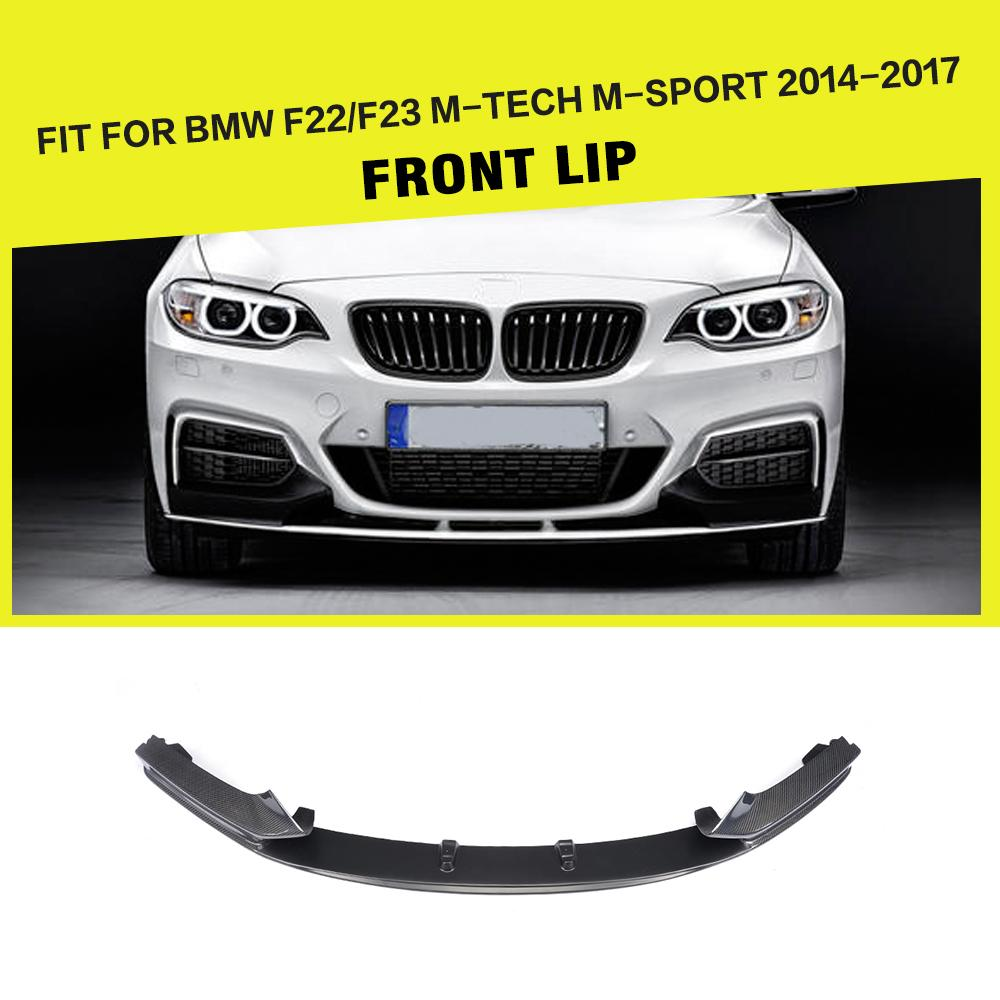Carbon Fiber / FRP Front Bumper Lip Spoiler Splitters Chin Guard for BMW 2 Series F22 F23 M Sport Coupe Convertible 2014 - 2018Carbon Fiber / FRP Front Bumper Lip Spoiler Splitters Chin Guard for BMW 2 Series F22 F23 M Sport Coupe Convertible 2014 - 2018