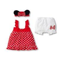 Dot Kids Kleding Set Leuke Ropa de Ninas Boog Hoofdband Slip Jurk Broek Peuter Meisje Kleding Prinses Dot Kinderkleding Set