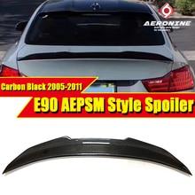 PSM Style E90 Real Carbon Fiber Car Trunk Spoiler Wing For BMW 3 series 320i 325i 330i 320d 335i Rear Lip 05-11