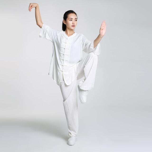 New Design Woman Short Sleeved Wushu Tai Chi Uniform Coat + Pants 1