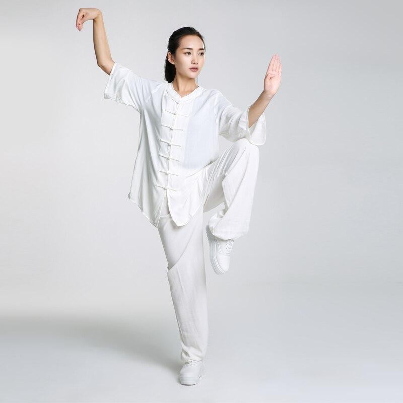 Nouveau Design Femme Court À Manches Longues Wushu TaiChi KungFu Uniforme femelle Costume Uniformes Tai Chi Exercice Vêtements Manteau + Pantalon fille