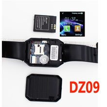 Smart Watch DZ09 Bluetooth Smartwatch Support SIM Card Phone Camera GSM/TF Men Wristwatch for IOS Android Phone PK U8 GV18 GT08