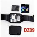 Tarjeta de la ayuda sim bluetooth smartwatch smart watch dz09 teléfono cámara GSM/TF Hombres Reloj para IOS Android Teléfono PK U8 GV18 GT08