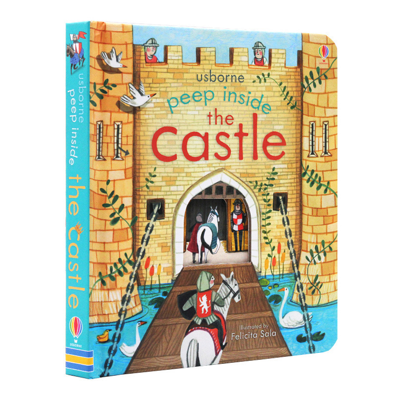 Peep Inside The Castle Original English Educational 3D Flap Picture Books Baby Children Reading Book