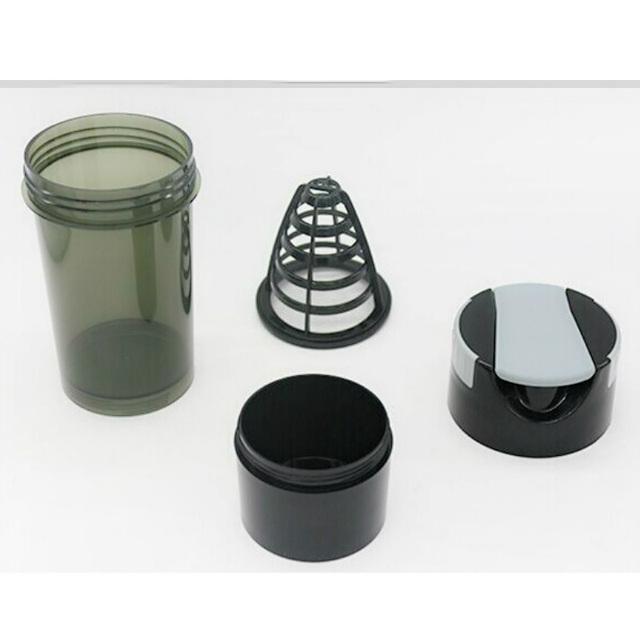 High Quality Protein Shaker Water Bottle Fitness Sport Yoga Plastic Shakering Bottles Bodybuilding Multi-functional Design Drink