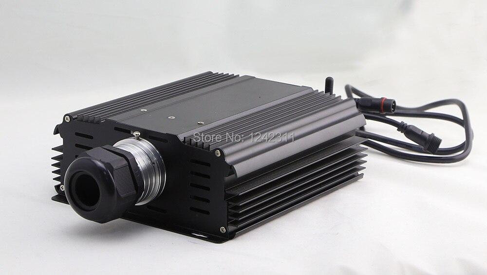 Le moteur optique extérieur 50 W de lumière de fibre de décoration a mené le boîte à lumière led de fibre optique commercial IOS andriod APP multi-modes à distance