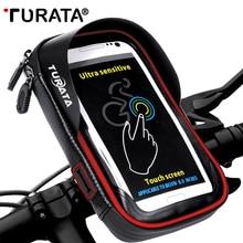 TURATA 6,0 дюймов велосипедный водонепроницаемый держатель для сотового телефона держатель для мотоцикла для samsung galaxy S8 Plus/iPhone 7 Plus/LG V20
