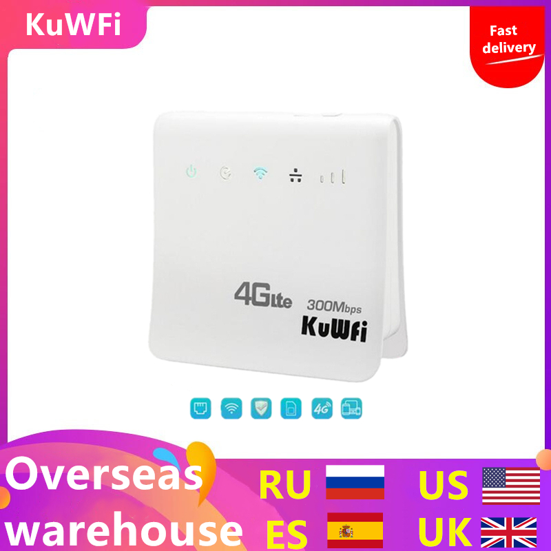 Unlocked 300Mbps Wifi Router 4G LTE CPE Wireless Mobile Router With LAN Port SIM Card Solt Support B1/B3/B5/B8 B38/B39/B40/41-in 3G/4G Routers from Computer & Office
