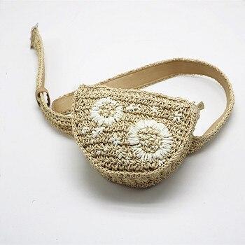ABDBดอกไม้ฟางแพ็คเอวผู้ชายผู้หญิงสามารถติดตั้งกับโทรศัพท์มือถือกุญแจกระเป๋าสตรีกระ
