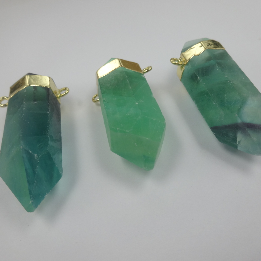 Green Fluorite IsaIs Rune Stone Pendant