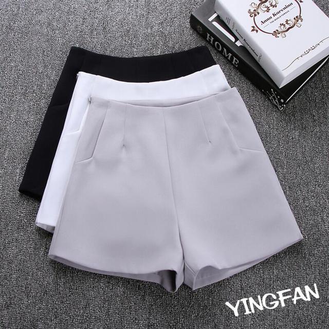 2018 New Summer hot Fashion New Women Shorts Skirts High Waist Casual Suit Shorts Black White Women Short Pants Ladies Shorts
