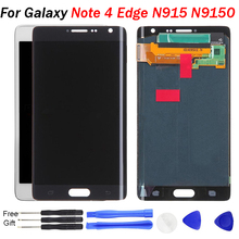 For Samsung Galaxy Note 4 Edge LCD Display 5.6'' N9150 N915F N915 LCD Gray White Display Screen Tested AMOLED Replacement Parts