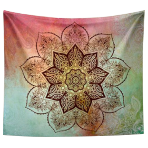 HOT GCZW 203 153cm Indian Mandala Tapestry Mandragora Nine corners flowers  Printing Beach Towels