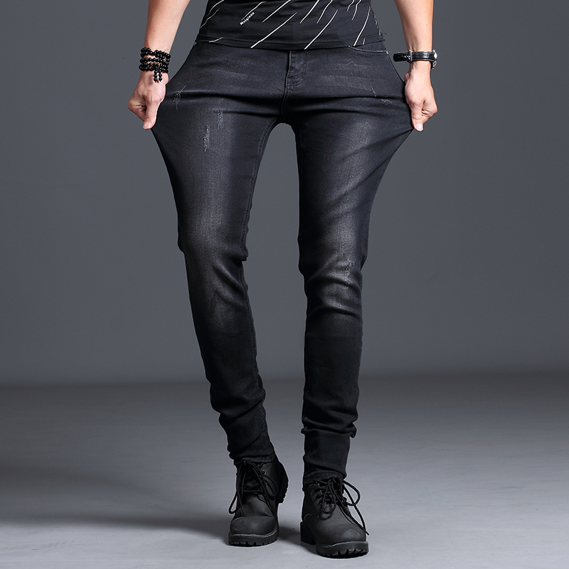 2018 New Mens Jeans Classic Trousers Bla