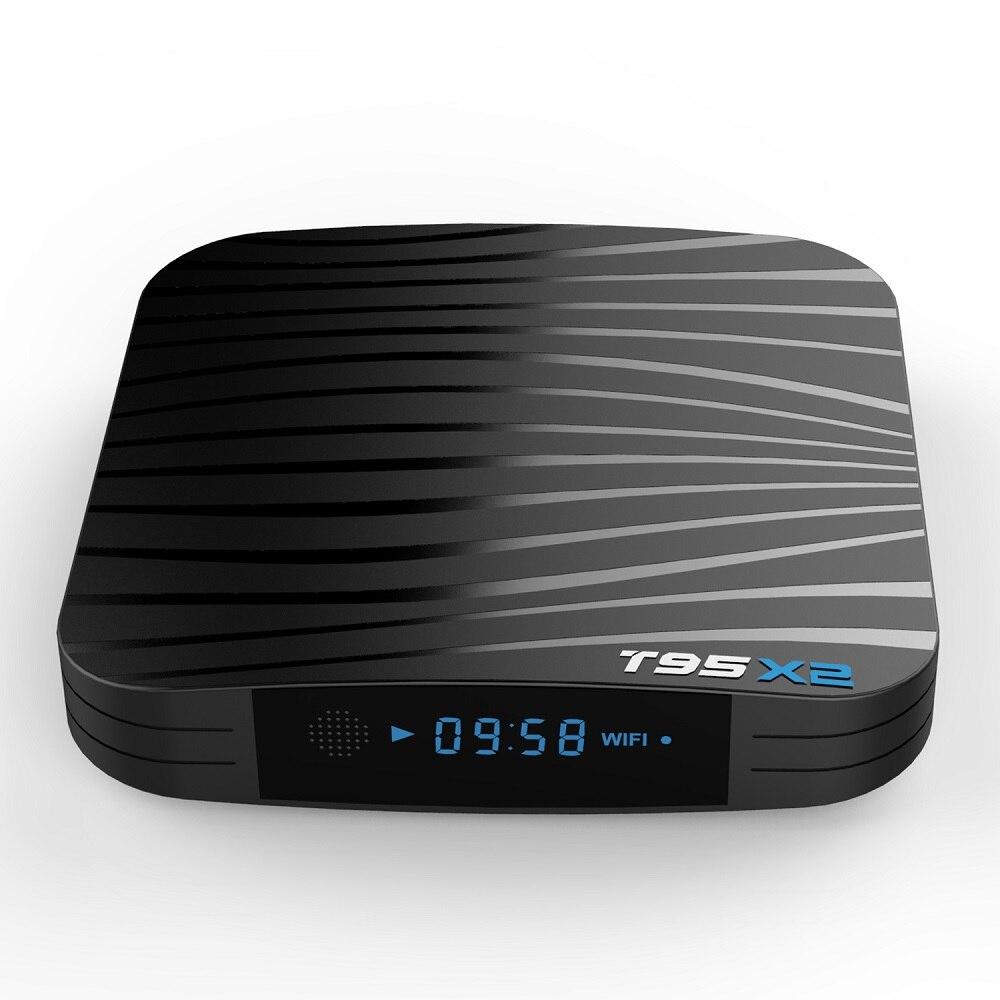 T95X2 caja de TV inteligente Android 8,1 4 GB 32 GB 64 GB Amlogic S905X2 Quad Core H.265 4 K Youtube reproductor multimedia Set top Box T95 X2 - 5